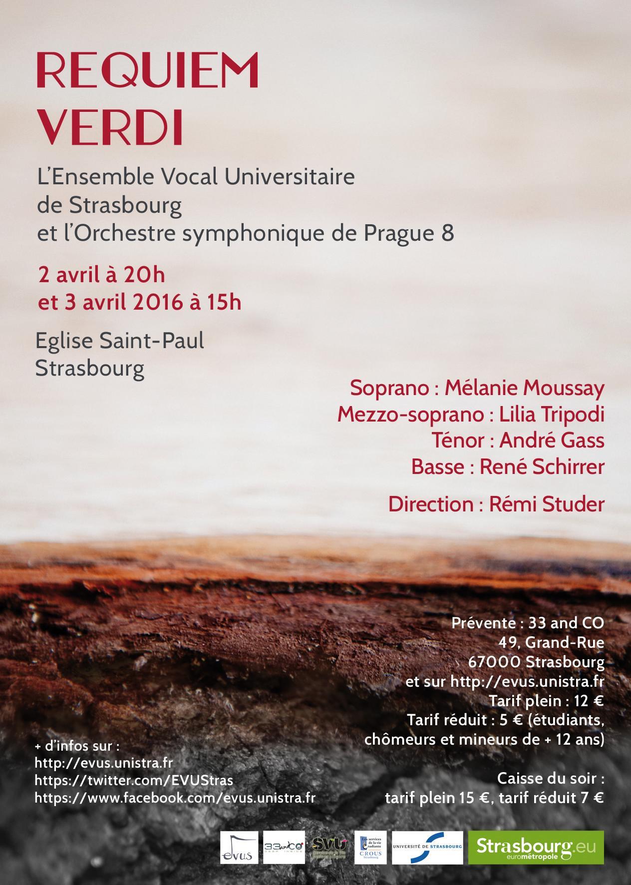 Affiche Requiem Verdi 2016